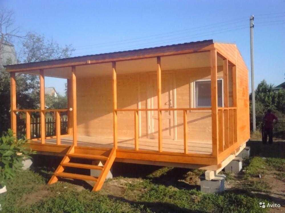 Каркасный дом 6 на 4 с террасой