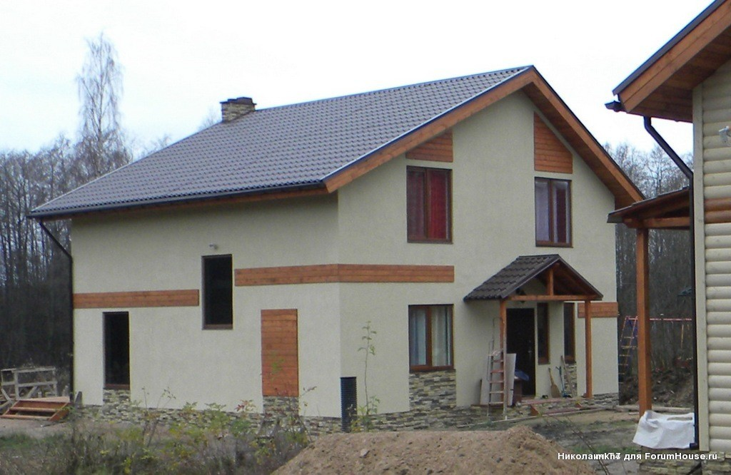 Нужен проект 2 этажного дома 10х10 из газоблоков под облицовку