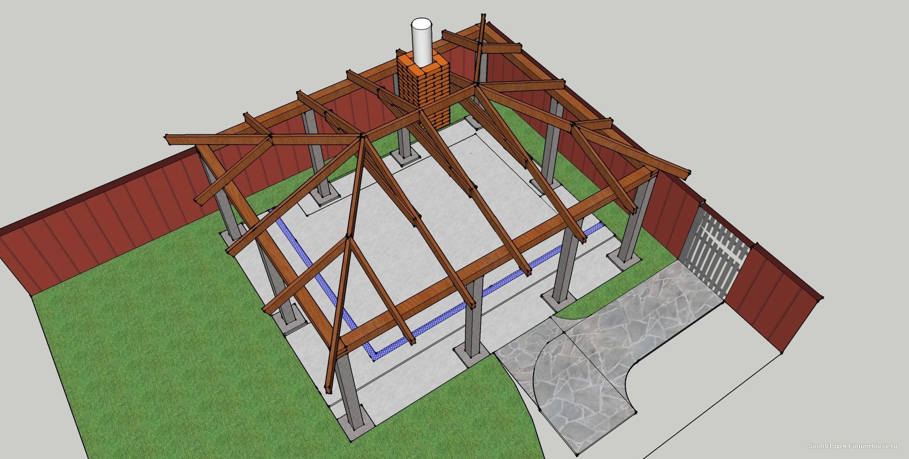 Строим крышу четырехскатную своими руками 53